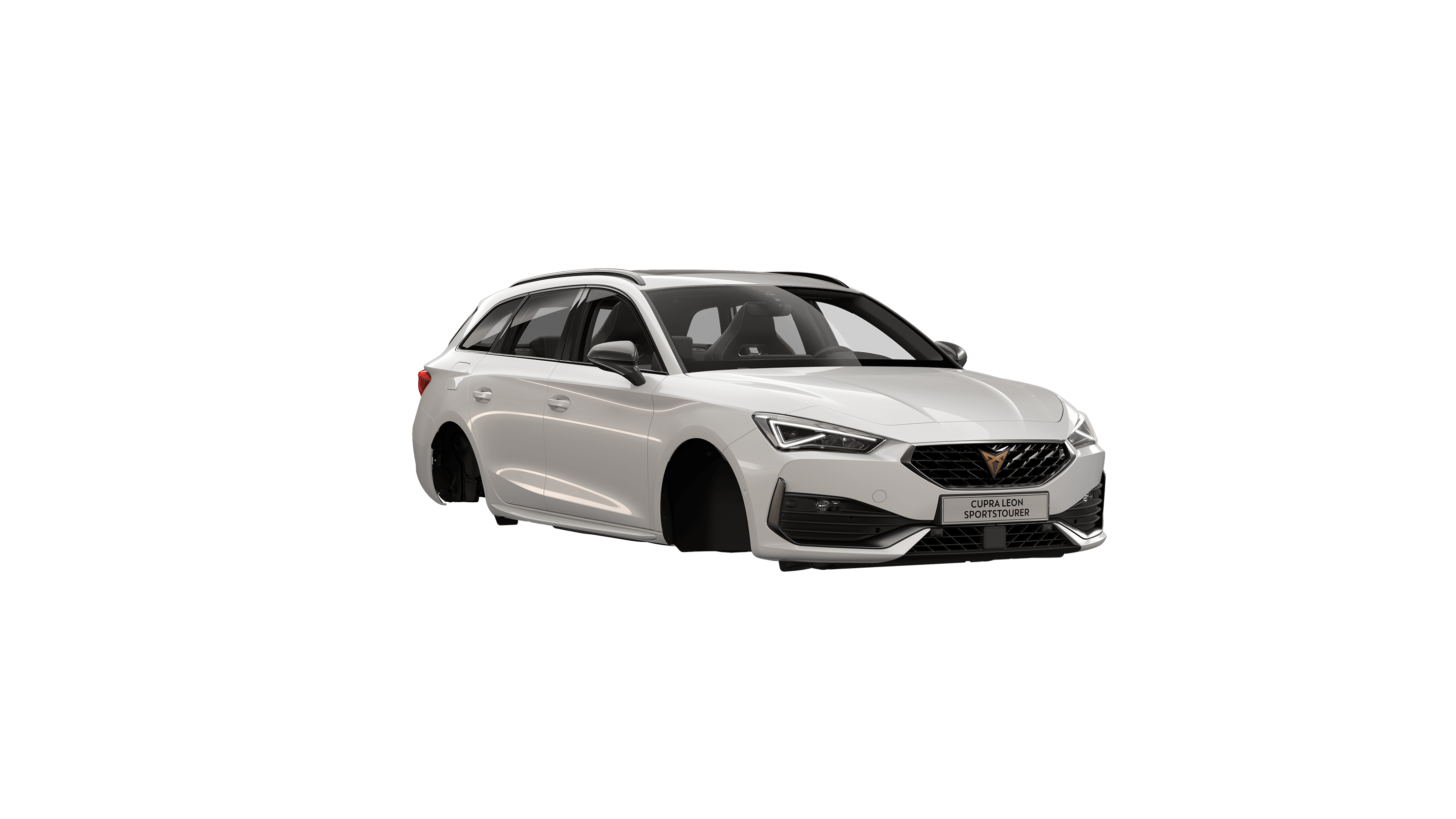 new CUPRA Leon Estate e-HYBRID Family Sports Car available in Candy White colour